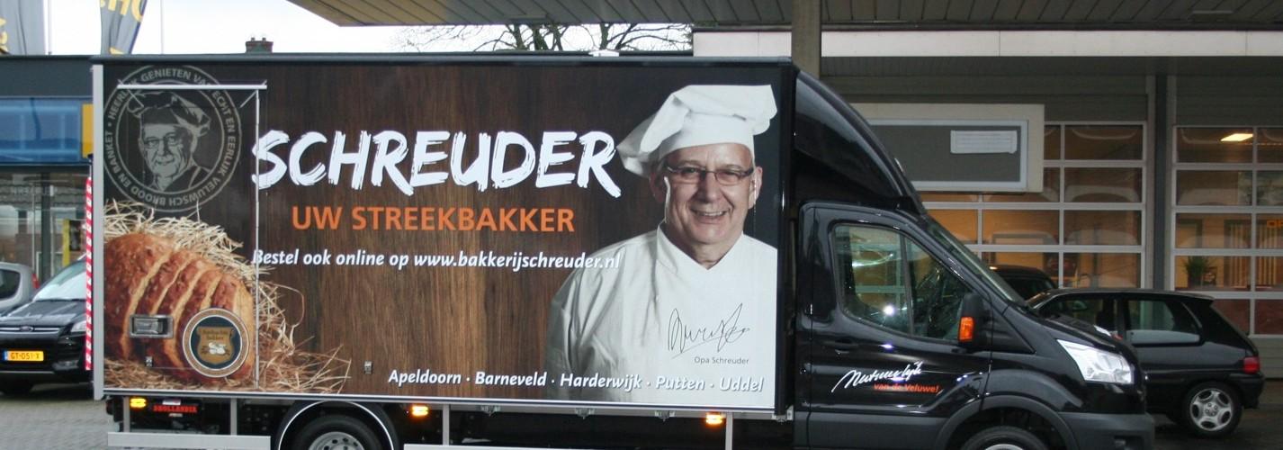 Mooie Bakwagen voor Schreuder.